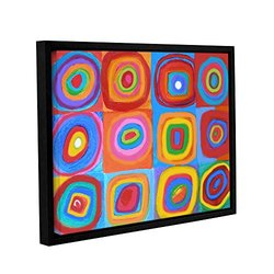 Susi Franco Farbstudie Quadrate Gallery Floater-Framed Canvas 18x24""