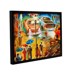 """ArtWall Susi Franco's in Italy Even Rain is Beautiful Gallery Wrapped Floater-Framed Canvas, 14 by 18"""""""