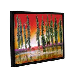 14in H X 18in W Framed Tuscan Cypress Sunset by Susi Franco - 1 Piece