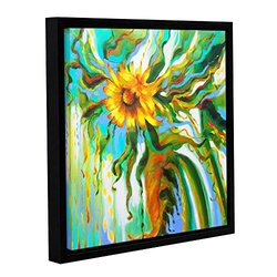"""Franco's Sunflower Melting Gallery Wrapped Floater-Framed Canvas - 18x18"""""""