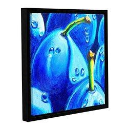 """ArtWall 18""""x18"""" Susi Franco's Plum Juicy Dew Drops Framed Canvas"""
