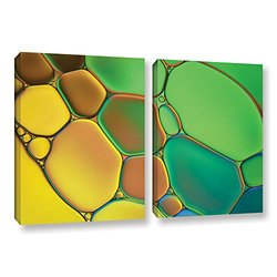 """ArtWall Cora Niele's Stained Glass III 2 Piece Gallery Wrapped Canvas Set, 24 by 36"""""""