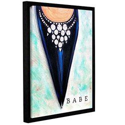 """ArtWall 18""""x24"""" Susi Franco's Babe Gallery Wrapped Floater-Framed Canvas"""