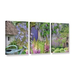 18in H X 36in W Cottage Garden by Cora Niele - 3 Pieces