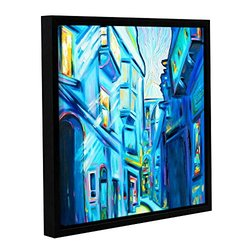 """Franco's Magical Alleys of Venice Wrapped Floater-Framed Canvas -18x18"""""""