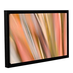 "ArtWall 16""x24"" Cora Niele's Abstract Barcode Gallery Wrappe Framed Canvas"
