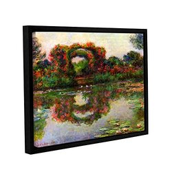 ArtWall Claude Monet's Foliage Trestle Gallery Wrapped Floater Framed Canvas, 14 by 18""