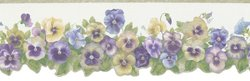 Brewster 418B085 Borders and More Pansy Trail Die-Cut Wall Border, 6.3125-Inch by 180-Inch