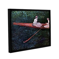 Claude Monet's Canoe Gallery Wrapped Floater Framed Canvas - 18x24""