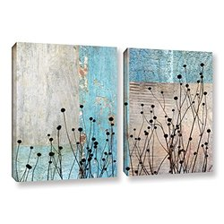 """ArtWall Cora Niele's Dark Silhouette I 2 Piece Gallery Wrapped Canvas Set, 24 by 36"""""""