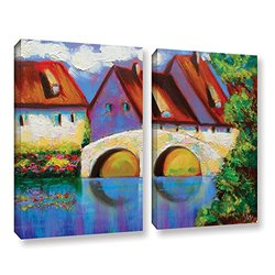 "ArtWall Susi Franco's German Village on Rhine Canvas Set - 24"" X 32"""