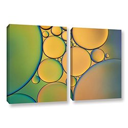 18in H X 28in W Orange Green by Cora Niele - 2 Pieces