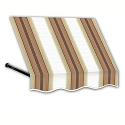 "Awntech 4-Feet Dallas Retro Window/Entry Awning 44""x 24"" White/Terra Cotta"