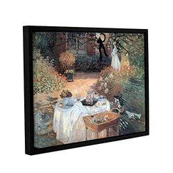 "Claude Monet's Garden Picnic Gallery Floater Framed Canvas - 18x24"""