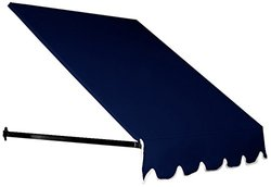 "Awntech 6 ft. Dallas Retro Window/Entry Awning (16"" H x 30"" D) in Navy"