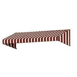 "Awntech 3-Feet New Yorker Window Awning - Burgundy/Tan - 24""X48"" Diameter"
