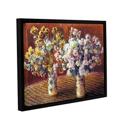 "ArtWall Claude Monet's Two Vases Gallery Wrapped Floater Framed Canvas - 14"" X 18"""