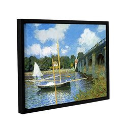 "ArtWall Claude Monet's The Bridge of Argenteuil Framed Canvas - 14"" X 18"""