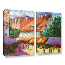ArtWall Susi Franco's 2 Piece Gallery Wrapped Canvas Set, 18 by 24""