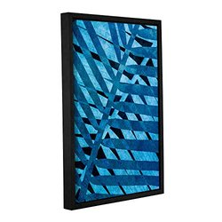 """ArtWall Cora Niele's Denim I Gallery Wrapped Floater Framed Canvas, 12 by 18"""""""