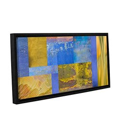 ArtWall Cora Niele's Collage Gallery Wrapped Floater Framed Canvas 12x24""