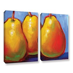 "ArtWall Susi Franco's Gang of Pears Canvas Set - 24"" X 32"" - 2Piece"