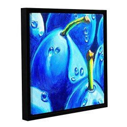 Susi Franco's Plum Juicy Dew Drops Gallery Wrapped Framed Canvas 14x14""