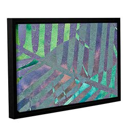 Cora Niele's Leaf Shades III Gallery Wrapped Floater Framed Canvas 12x18""