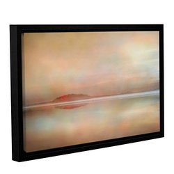 ArtWall Cora Niele's Landscape Sunset Gallery Wrapped Floater Framed Canvas, 12 by 18""