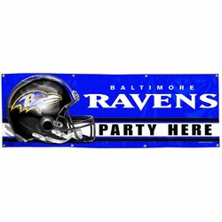 NFL Baltimore Ravens 2-by-6 foot Vinyl Banner