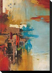 "Aqua Illusion 1 by Gabriela Villarreal Stretched Canvas Print 22"" x 15"""