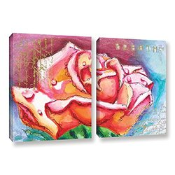 ArtWall Susi Franco's Breathe 2 Piece Gallery Wrapped Canvas Set, 24 by 36""