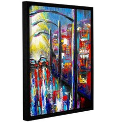 "ArtWall 18""x24"" 8 O'Clock Street Lights Gallery Wrapped Framed Canvas Art"