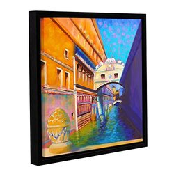 ArtWall Susi Franco's Venezia Ponte Di Sospiri Gallery Wrapped Floater-Framed Canvas, 18 by 18""