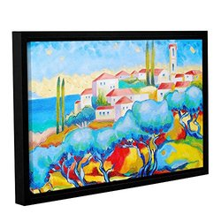 """Susi Franco's Greece By the Sea Wrapped Floater-Framed Canvas - 16 by 24"""""""