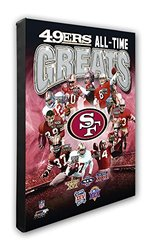 "NFL San Francisco 49ers 'All Time Greats' Beautiful Gallery Quality, High Resolution Canvas, 16"" x 20"""