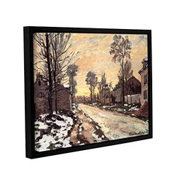 4in H X 8in W Framed Snowy Country Road by Claude Monet - Piece 1