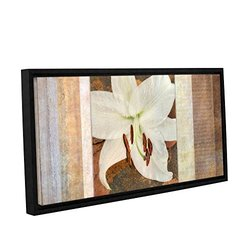 "ArtWall Cora Niele's Gallery Wrapped Framed Canvas - 12"" X 24"" - Ivory"