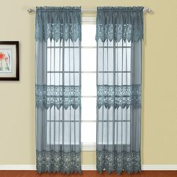United Curtain Co. Valerie pk. Curtains 2, Blue