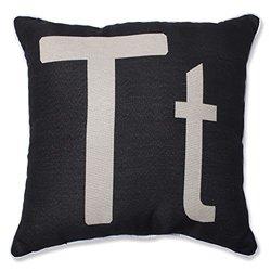 "Pillow Perfect Initial 'T' Throw Pillow - 18"""