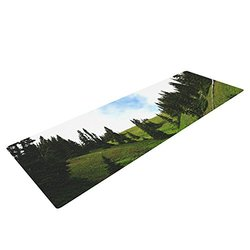 Kess InHouse Robin Dickinson Going to the Mountains Exercise Yoga Mat - Green Blue