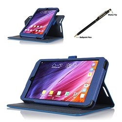 ProCase Rotating Cover Case for ASUS MeMO Pad 8 w/ Stylus Pen - Navy Blue