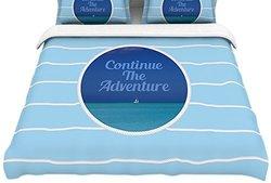 "Kess InHouse Duvet Cover - Aqua Blue - Size: Twin - 68""X 88"""