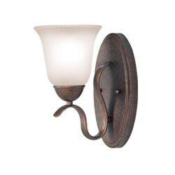 Woodbridge Beaconsfield 1 Light Bath Vanity Light; Marbled Bronze