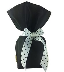 CHC-Beverly Hills Gift Bags for Cookies - Black/White - Black Dot Ribbon