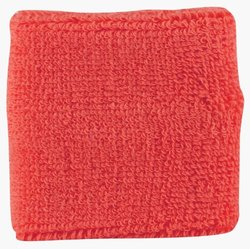 Markwort 2.5-Inch Extra Thick Cotton Box of 10 Pair Wristbands (Red)
