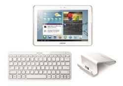 """Samsung Galaxy Tab 2 10.1"""" Tablet 16GB White w/ Bluetooth Keyboard & Dock"""
