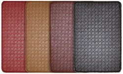 J&V Textiles Anti-Fatigue Feel At Ease 2 Pack Kitchen Mats - Brown