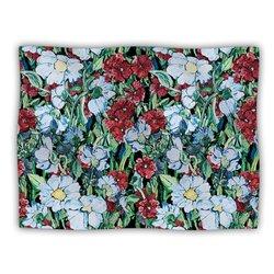 """Kess InHouse DLKG Design """"Giardino Garden Flowers"""" Blanket, 60 by 50-Inch"""