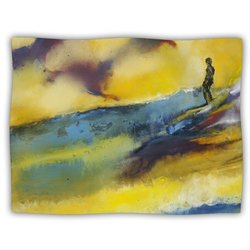 "Kess InHouse Josh Serafin ""Sano Yellow Surf"" Blanket, 60 by 50-Inch"